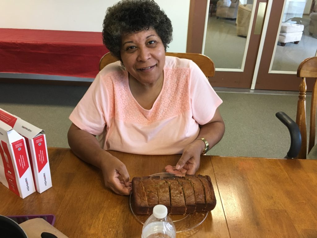 Denise, with her popular homemade banana bread.