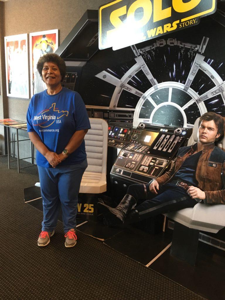 Denise loving Star Wars.